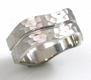 טבעת נישואין דגם הלן זהב לבן