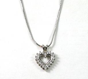 תליון לב יהלומים דגם קייט