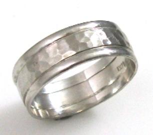 טבעת נישואין דגם תמי זהב לבן