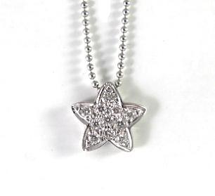 תליון כוכב משובץ יהלומים