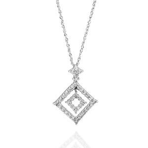 תליון יהלומים בצורת יהלום