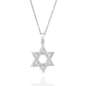 תליון מגן דוד יהלומים