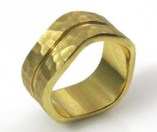 טבעת נישואין דגם הלן זהב צהוב