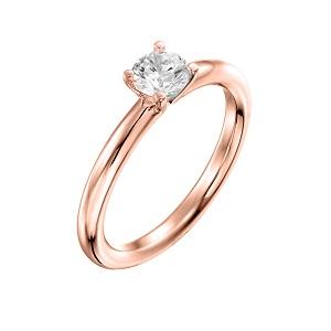טבעת יהלום סוליטר לאירוסין זהב ורוד דגם תמר