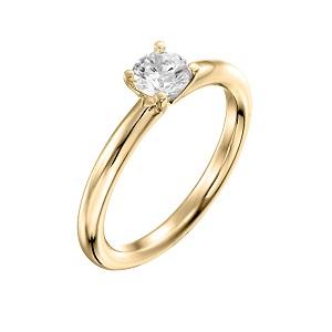 טבעת יהלום סוליטר לאירוסין זהב צהוב דגם תמר