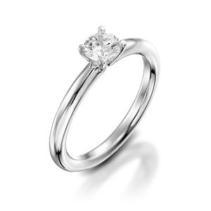 טבעת יהלום סוליטר לאירוסין זהב לבן דגם תמר
