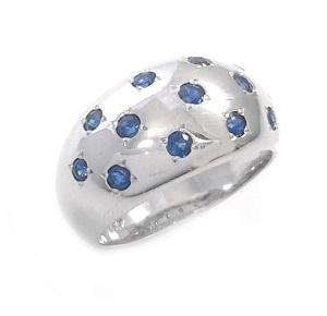 טבעת ספירים כחולים דגם ליל כוכבים
