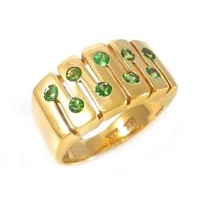 טבעת כרום טורמלינים דגם עמית