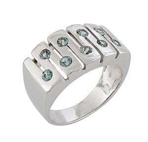 טבעת ספירים כחולים קרח דגם עמית