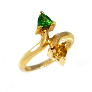 טבעת טורמלין כרום וטורמלין סוואנה דגם נועה