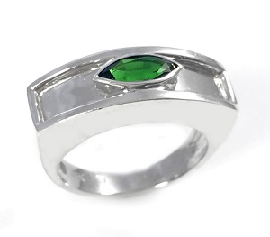 טבעת כרום טורמלין סוליטר דגם רותם