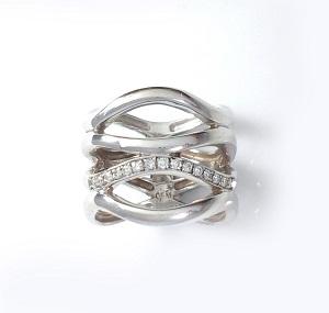 טבעת יהלומים קוקטייל דגם רומיי