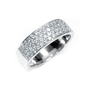 טבעת יהלומים 4 שורות דגם אווה