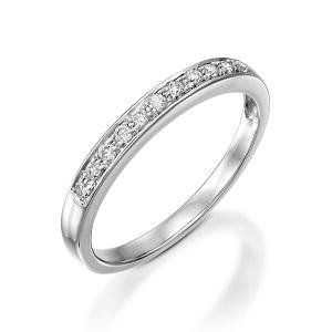 טבעת יהלומים שורה דגם פולי 0.19 קרט