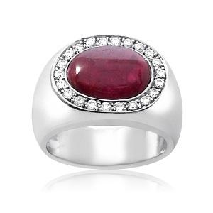 טבעת רובי ויהלומים דגם גבריאל