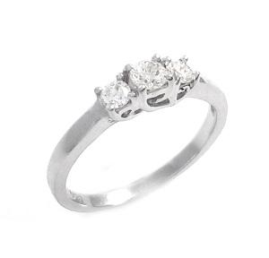 טבעת 3 יהלומים דגם טרייסי 0.30 קרט