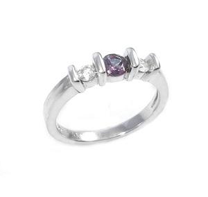 טבעת ספיר משנה צבע ויהלומים דגם לונה