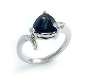 טבעת ספיר כחול סוליטר דגם הרפר