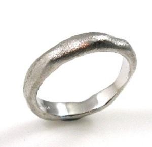טבעת נישואין דגם שירלי זהב לבן