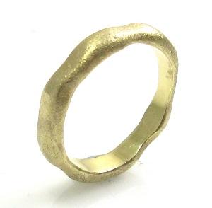 טבעת נישואין דגם שירלי זהב צהוב