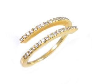 טבעת יהלומים פתוחה דגם דו כיוונית