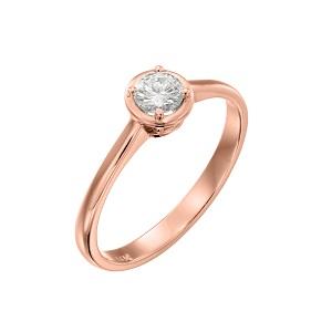 טבעת יהלום סוליטר לאירוסין זהב ורוד דגם אריאדנה