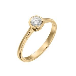טבעת יהלום סוליטר לאירוסין זהב צהוב דגם אריאדנה