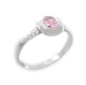 טבעת ספיר ורוד ויהלומים דגם טריקסי