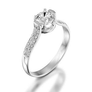 טבעת יהלומים לאירוסין דגם כלת יהלומים