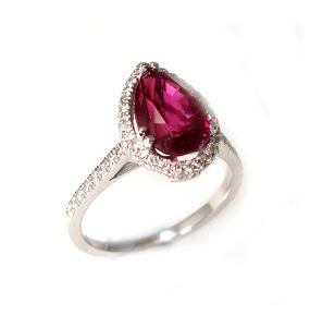 טבעת רובי ויהלומים דגם רות