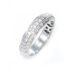 טבעת יהלומים 3 שורות דגם שרי