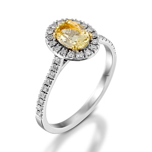 טבעת סקפולייט ויהלומים דגם מורן