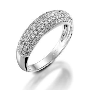 טבעת יהלומים 4 שורות דגם נואל