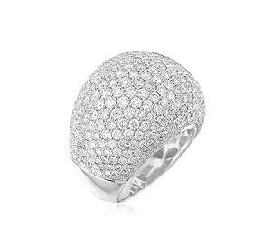 טבעת יהלומים כיפה דגם דורמה