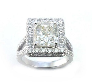 טבעת יהלום רדיאנט ויהלומים דגם דון