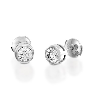 עגילי סטד יהלומים דגם מי
