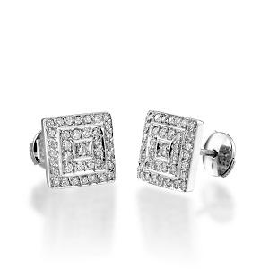 עגילי יהלומים דגם אודליה