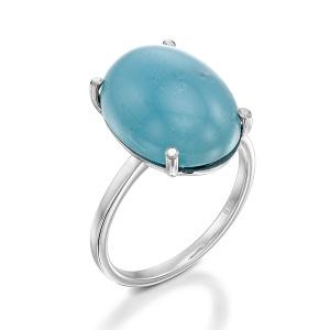 טבעת אקווה מרין סוליטר דגם רעות