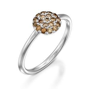 טבעת יהלומים פנסיים שמפניה דגם Berry