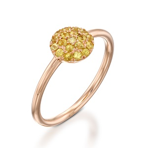 טבעת ספיר צהוב דגם Berry