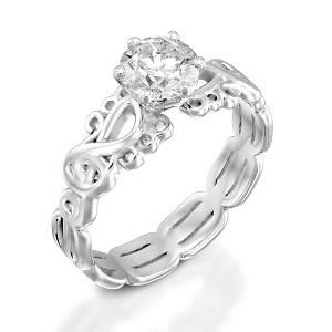 טבעת יהלום סוליטר דגם סול