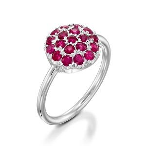 טבעת רובי דגם Berry