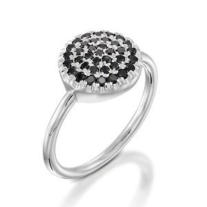 טבעת יהלומים שחורים דגם Berry W