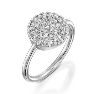 טבעת יהלומים לבנים דגם Berry W