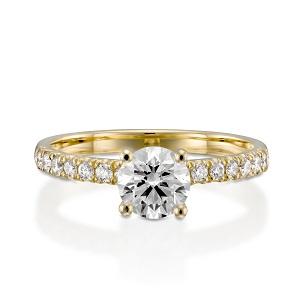 טבעת יהלומים דגם אפריל