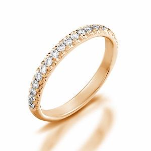 טבעת שורת יהלומים דגם אפריל