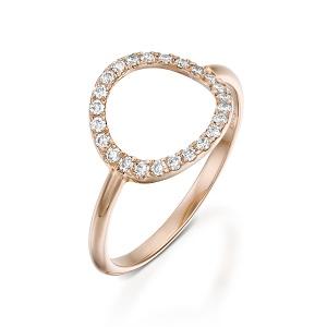 טבעת יהלומים מעגל קארמה דגם הילת ירח