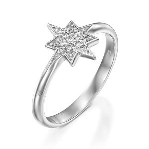 טבעת יהלומים דגם כוכב המשאלות