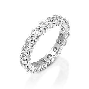 טבעת יהלומים נצחית טניס דגם ג'וי