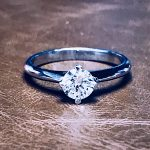 טבעת סוליטר קורה ביהלום
